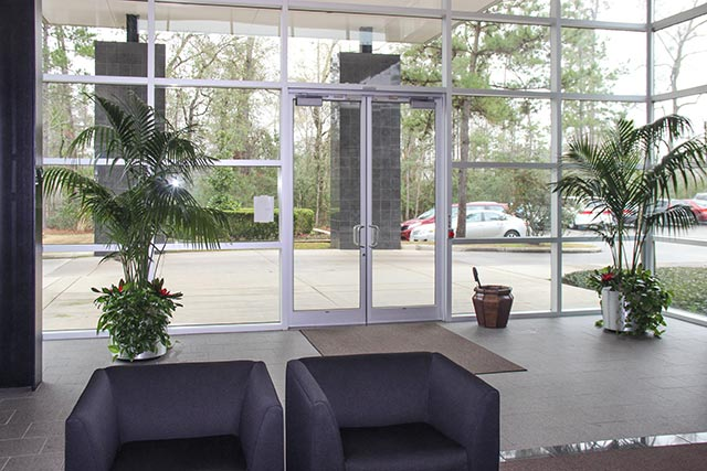 Interior Landscape Houston TX, building lobby - commercial building indoor-plant lease & rental